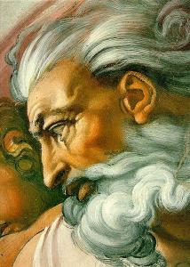 """Michelangelo's """"God,"""" from """"the Creation of Adam"""""""