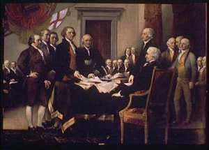 Signing of the Declaration of Independence: painting by Benjamin West